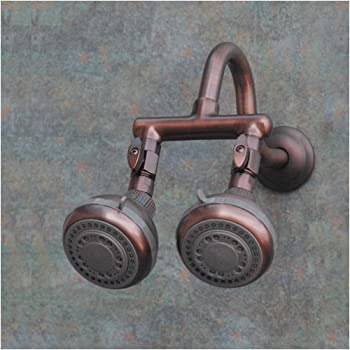 double shower head firstmate 2 rub bronze dual shower 11252