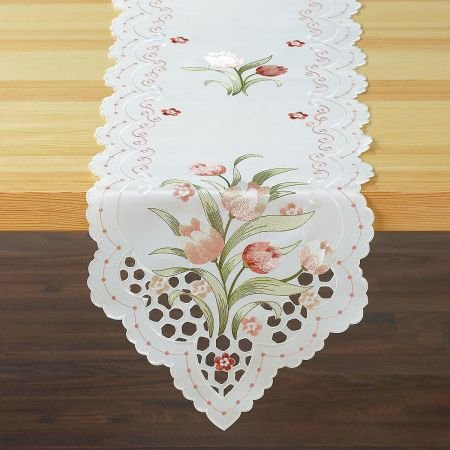(Current Spring Tulip Cutout Table Runner- 13