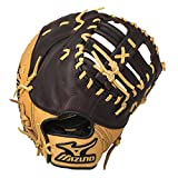 Mizuno World Win GXF75 Baseball Firstbase Mitt, Camel/Brown, 12.50-Inch, Right Handed Throw