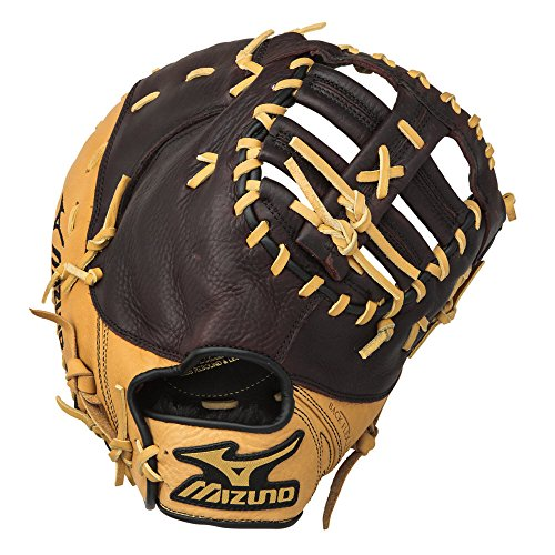 Mizuno World Win GXF75 Baseball Firstbase Mitt, Camel/Brown, 12.50-Inch, Left Handed Throw