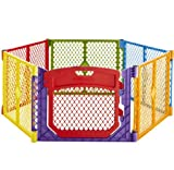 ''Superyard Colorplay Ultimate'' 6-Panel Play Yard by North States: Create a safe play area anywhere. Includes carrying strap. Freestanding. 192'' length, 18.5 sq. ft. enclosure (26'' tall, Multicolor)