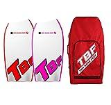Two Bare Feet 42' Bodyboard Bundle - 2x 42 Dropknee Bodyboards of your choice + Premium Double Carry Bag (Dropknee (Red)+Dropknee(Rasp)+Red Bag)