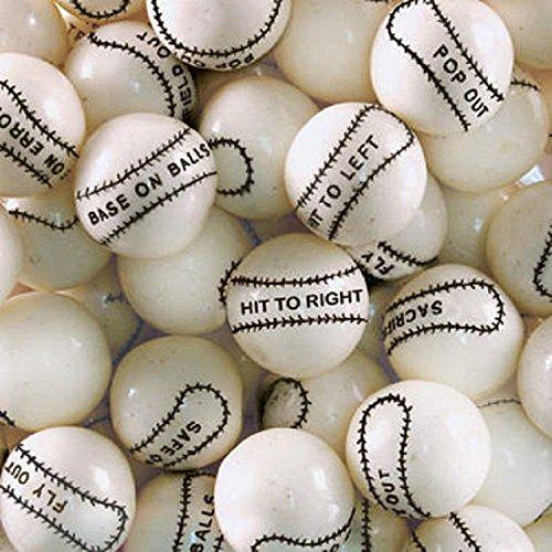 Dubble Bubble Baseball 24mm Gumballs 1 Inch, 3 Pounds Approximately 165 Gum Balls.