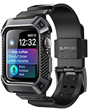 Apple Watch 4 Case 44mm 2018, SUPCASE Rugged Protective Case with Strap Bands for Apple Watch Series 4 [Unicorn Beetle Pro] (Black)