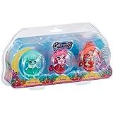 Giochi Preziosi - Glimmies Aquaria Blister Triplo, Medusilla, Coralie e Ondina
