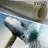 VViViD 12 Mil Clear Vinyl Shatterproof Safety Window Film (30'' x 50ft)