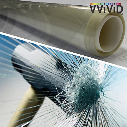 VViViD Clear Protective 4mil Vinyl Window Glass Wrap Shatterproof Security Film Large Window Roll (60
