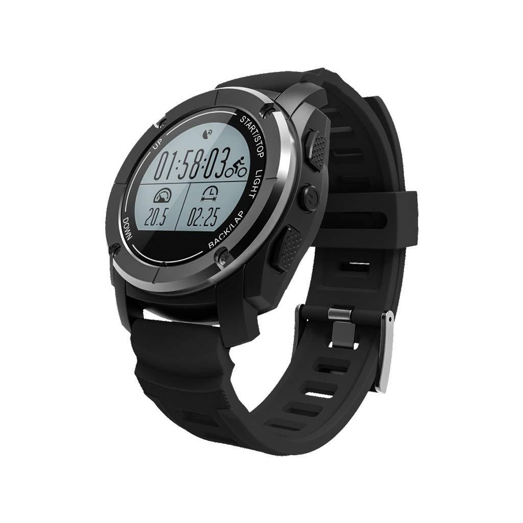 フィットネスブレスレットスクリーン付き心拍数モニターIP66防水1.31インチアクティビティトラッカー歩数計心拍数モニタースマートウォッチウォッチ (Color : Black)  Black B07S8TKVRG