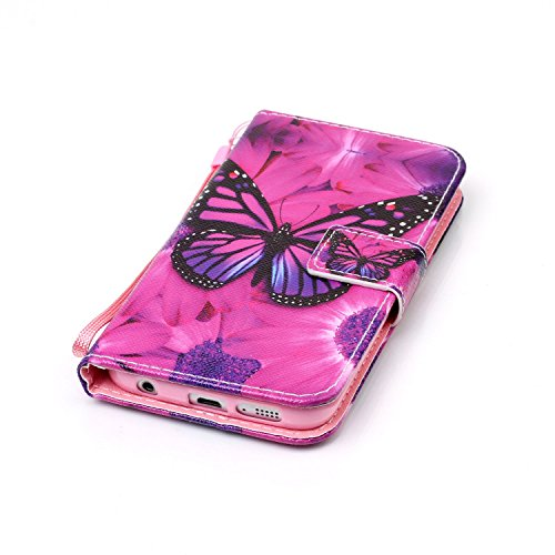 9 S6 Piel Libro Samsung Smartphone Blanco 2 Con Atril Galaxy Función Conector Funda De Polvo Cover Flip nbsp;edge Para Tarjetero Móvil Magnético w1fgCqwx