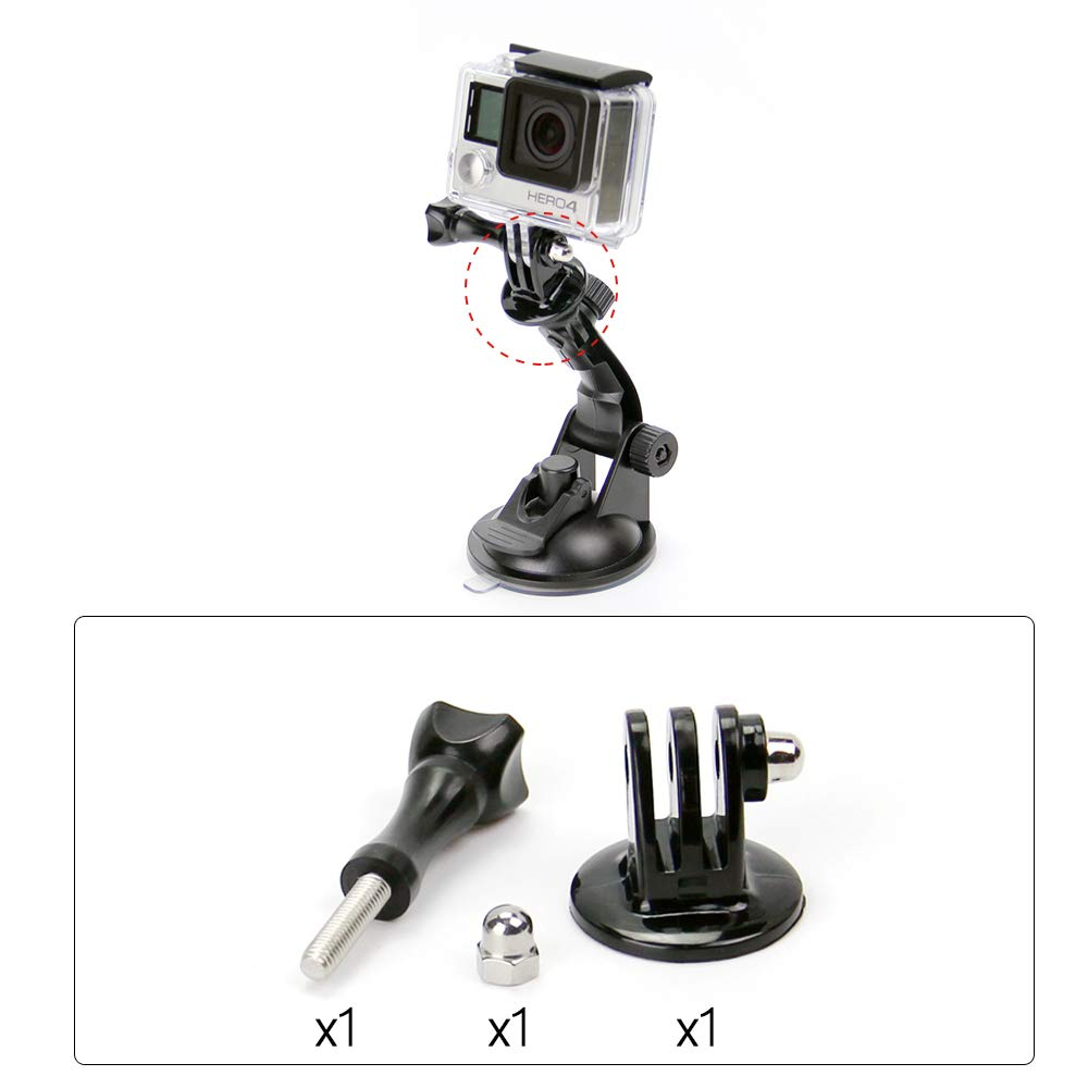 for GoPro Accessories 1//4 Tripod Mount Adapter Screw Nut for GoPro HD Camera Hero 7 6 5 for xiaomi Yi Tripod Adapter GP56