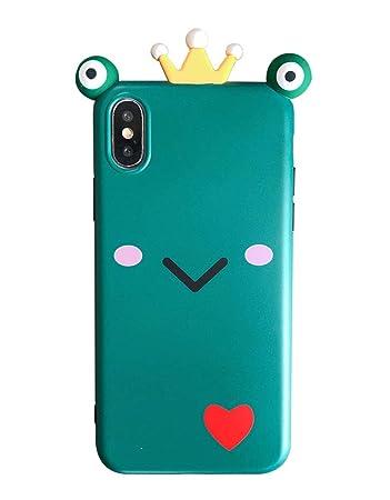 33e6a86f71 iPhone X ケース 可愛いプリンス カエルの目 笑顔 面白い 薄型 スマホケース シック ソフト 携帯電話