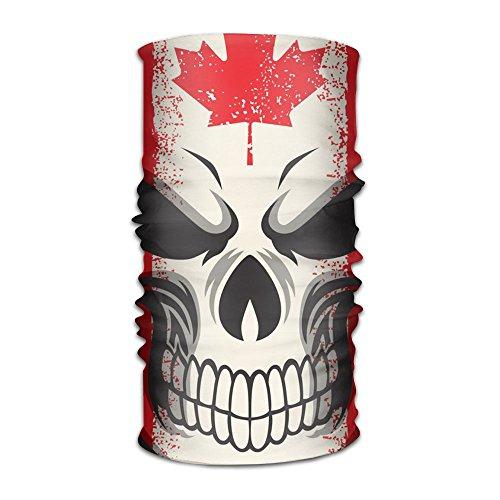 Coring Canadian Skeleton Flag Fashion Outdoor Scarf Headbands Bandana Mask Neck Gaiter Head Wrap Mask Sweatband -