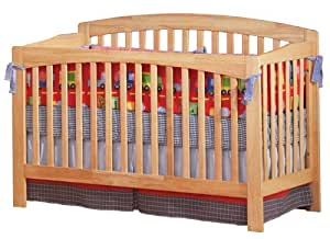 Atlantic Furniture Richmond Convertible Crib, Natural Maple (Discontinued by Manufacturer)
