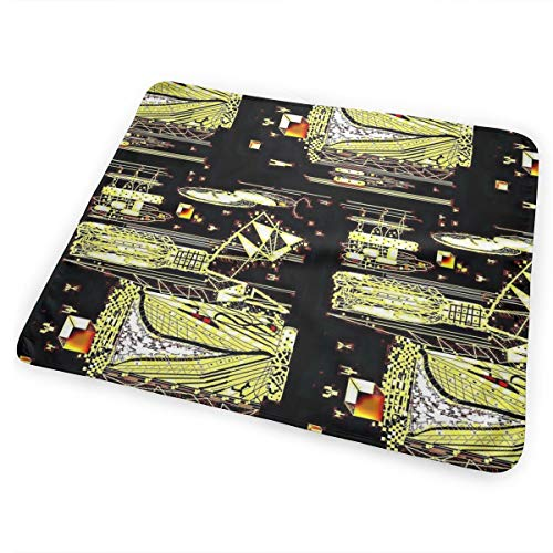 Citron Dragonfly Invaders Washable Incontinence Pad Baby Changing Pad Pet Mat Large Size 25.5 x 31.5 inch (65x80 -