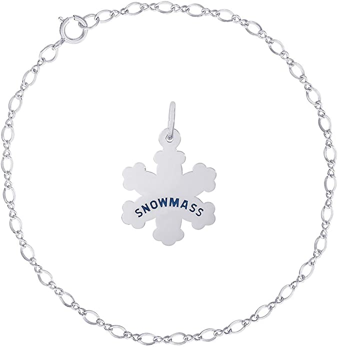 Rembrandt Sterling Silver Bear Paw Print Charm on a Sterling Silver Rope Chain Necklace