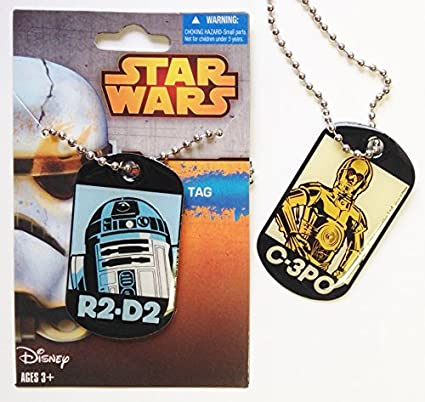 Amazon.com : Star Wars Double Sided R2D2 & C3PO Dog Tag - Officially