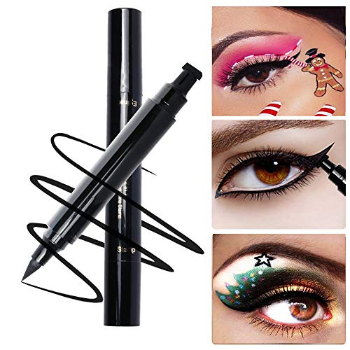 PrettyDiva Winged Eyeliner Stamp - Waterproof Long Lasting Liquid Eyeliner Pen Smudgeproof Eye Makeup Seal Stamp Tool for Wing or Cat Eye - Black