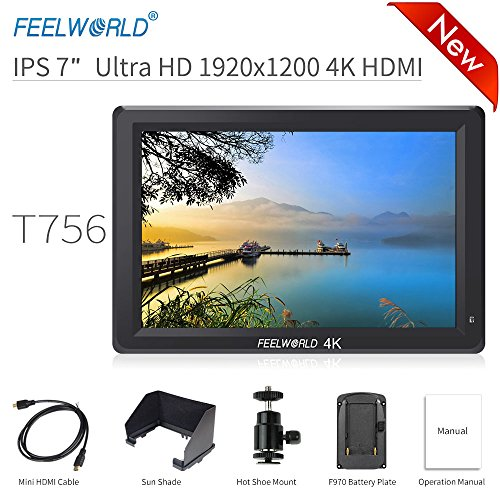 FEELWORLD T756 DSLR On Camera Field Monitor 7 inch IPS Full