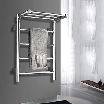 HDLWIS Calentador de Toallas, tendedero hogar Cuarto de baño Hotel montado en la Pared Estilo paño Calentador de Toallas de baño: Amazon.es: Hogar