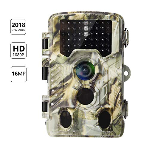 AlfaView Trail Camera 16MP 1080P HD Game & Hunting Camera with 120°Wide Angle Lens No Glow Night Vision Up to 75ft 0.2s Trigger Time Motion Activated Waterproof Wildlife Hunting Camera