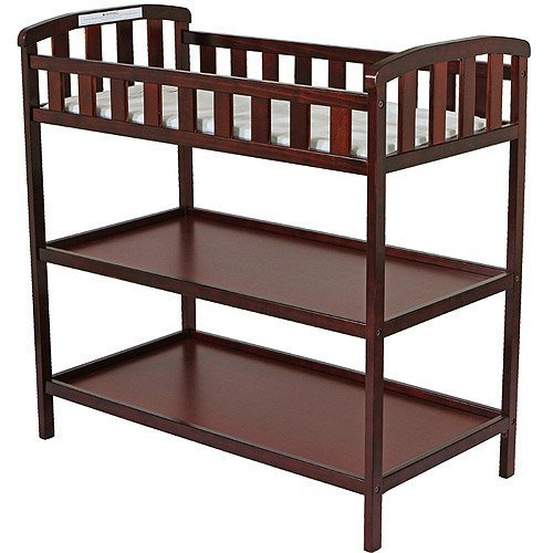 Dream on Me - Emily Changing Table - Cherry - Nursery Room - Nursery Furniture - Traditional Design in a Solid Pine Wood Construction - 2 Shelves - Non-toxic Finish by Dream On Me
