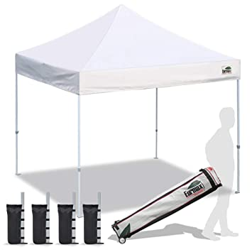 Pop Up Canopy Tent >> Eurmax Pop Up Canopy Tent Commercial Instant Shelter With Wheeled Roller Bag Bonus 4 Canopy Sand Bags