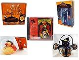 Halloween Fun Gift Bundle [5 piece] - Wilton Autumn 8-Piece Cookie Cutter Set - 35 Count Skeleton Icicle-Style Light Set - Haunted Horror Sounds CD - Happy Halloween Monster Duck Novelty -Vampire Ru