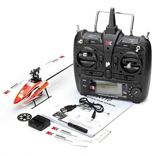 RaiFu 3DヘリXK K110 ヘリコプター ブラシレスモーター RTF / BNF 双葉 子供 おかしい おもちゃ ギフトドローン 屋外 送信機付 B07GB8YP7Q 送信機付