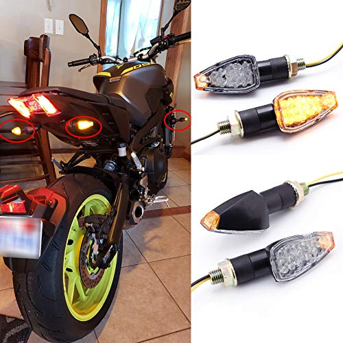 4 stks Motorfiets Richtingaanwijzer Motorbike 12 V 14 LEDs Lange Stengels Turn Indicatoren voor CB1000R CB1300 CB600F…