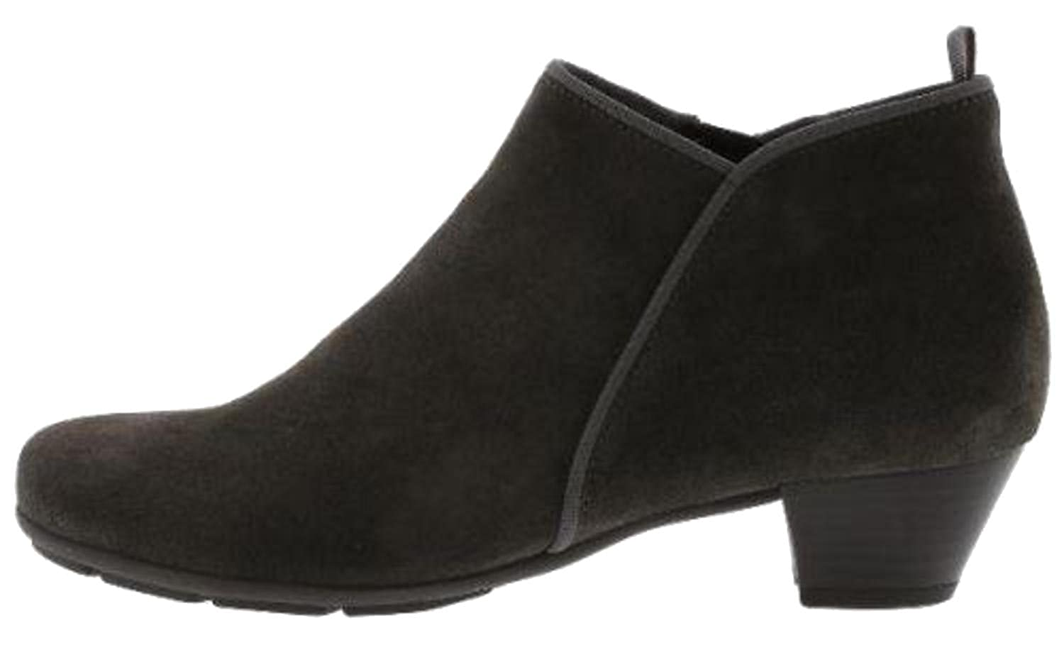 a392101a54e2 Gabor Trudy Mid Heel Ankle Boots in Black Leather  Amazon.co.uk  Shoes    Bags