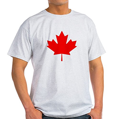 Maple Ash Review - CafePress Canadian Maple Leaf Light T-Shirt 100% Cotton T-Shirt Ash Grey