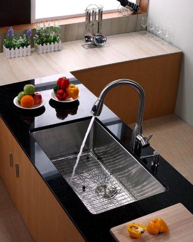 "KRAUS KBG-100-32 Stainless Steel Bottom Grid for KHU100-32 Single Bowl 32"" Kitchen Sink, 29 9/16"" x 16 9/16"" x 1 3/8"" by Kraus (Image #2)"