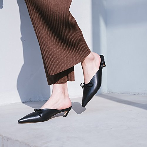 Walking Career amp; Sandals amp; PU Size Flops Hollow amp; Flip Dress Shoes Slippers Summer Office Comfort amp; Fashion Pointed A Breathable Women's Career Shoes Party Dress Evening out A 39 XUE Shoes Color AxX0PWwRE