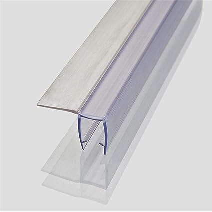 junta de recambio para ducha Soporte de goma de plástico Para puertas de vidrio de 8 mm / 10 mm / 12 mm, longitud de la tira de sellado 220 cm-10 mm: Amazon.es: Bricolaje y herramientas