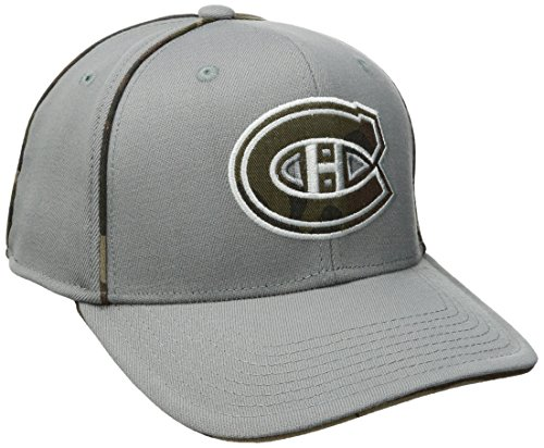 fan products of NHL Montreal Canadiens Men's SP17 Gray Camo Structured Flex Cap, Gray, Small/Medium