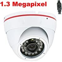 GW Security 1.3 Megapixel HD-SDI Video Outdoor Indoor 720P Dome Infrared Security Camera with 1280 x 720 HD Pixel