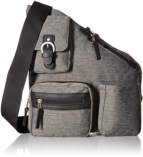 Annette Ferber Collections Metro Signature Cross Body Bag Set, Charcoal, Large, 2 Piece - Signature Cross Body