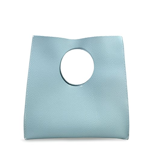 Style Leather Pu Clutch Small Hoxis Handbag Blue Sea Tote Vintage Minimalist Soft g6qpgXEw