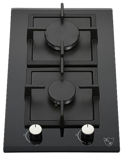 K H Domino Piano Cottura A Gas 2 Fornelli 30cm 2z Khg Amazon It