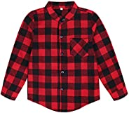Cotrio Baby Boys Girls Blouses Long Sleeve Plaid Flannel Shirt Chic Casual Button Down Checks Top Autumn Blous