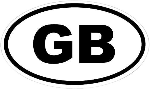 "GB Great Britain Oval car window bumper sticker decal 5/"" x 3/"""