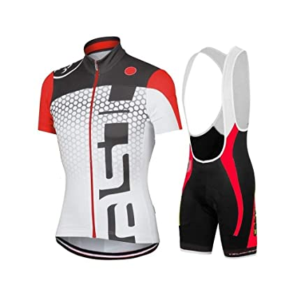 popular brand vast selection look out for Wulibike Maillot Cyclisme Homme Manche Courte Tenue Velo Route Equipe  Pro+Cuissard Court avec Gel 3D Rembourré