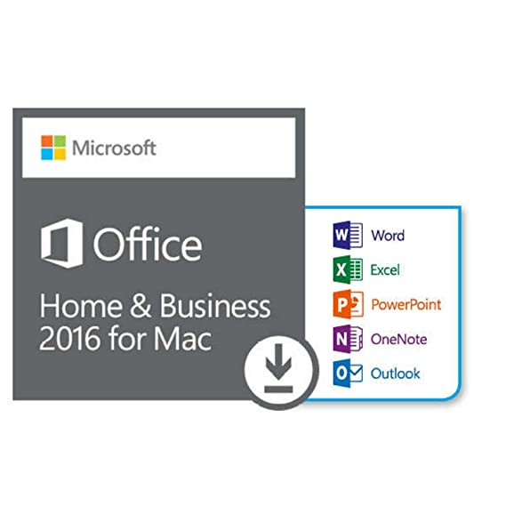 Amazon com: Microsoft Office Home and Business 2016 for Mac