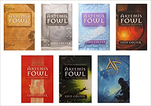 artemis fowl box set. artemis fowl complete series set books 1-7 : / the arctic incident eternity\u0027s code opal deception lost colony time box e