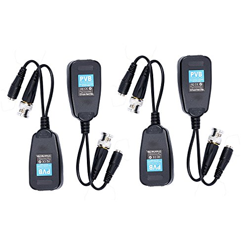 Long Range Video Surveillance - 10Pairs HD-CVI/TVI Video Balun,720P/1080P Passive Transmitter/Transceivers DC Built-in Transient Suppression Protection Compatible CCTV Security/Surveillance Camera Systems(No Power Required)