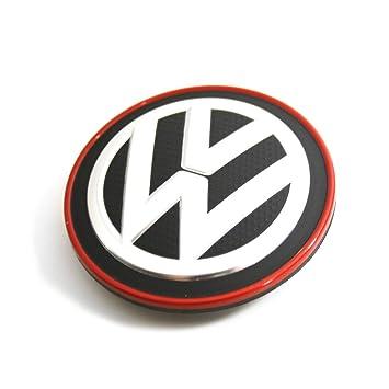 Recambio Original Volkswagen - Tapa Centro Rueda Llantas de Aleación (borde cromado / rojo), 5G0601171BLYC: Amazon.es: Coche y moto