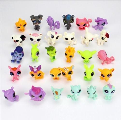 Cute Rare Littlest Pet Shop LPS Lot Figures Collection Toy Cat Dog Loose 30PCS