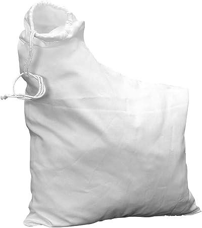 Paletur0 - Bolsa para aspirador de hojas al aire libre, a prueba de polvo, para trituradora de césped 2595 para rastrillo y sopladores de hojas de vacío, No nulo, Blanco, Tamaño libre: