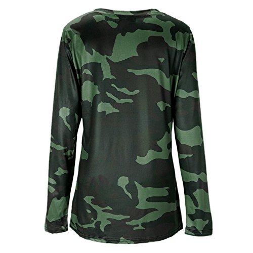 Imprim Longues T Femme shirt Manches Pull Eleery Tops 0wvqTT