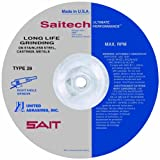 United Abrasives-SAIT 21089 7 by 1/4 by 5/8-11 ECH Type 28 Grinding Wheel, 10-Pack